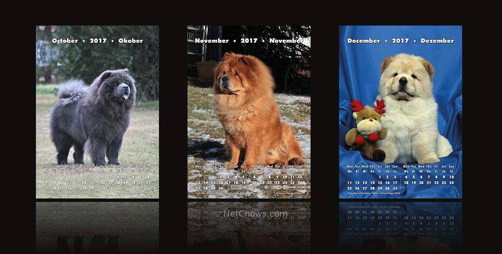 Chow-Chow Kalender 2017 / Oktober bis Dezember