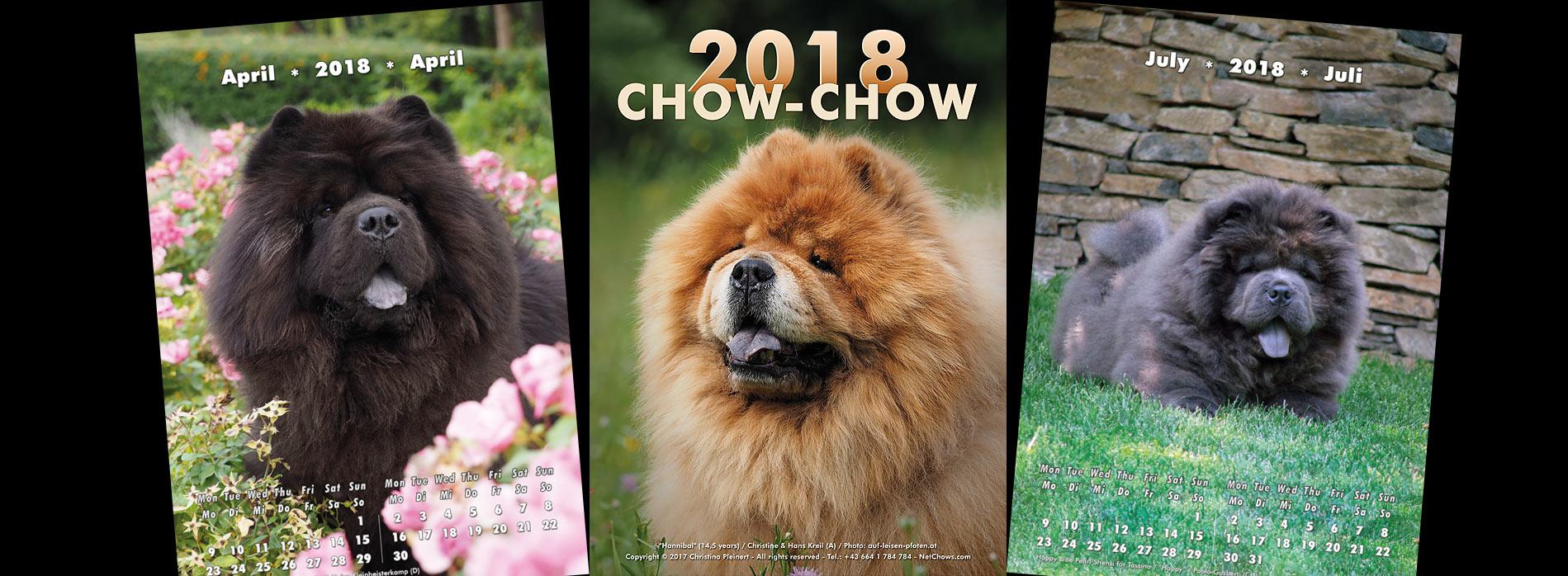 Chow-Chow Kalender 2018