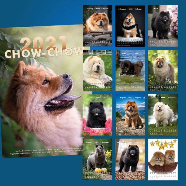 Chow-Chow Kalender 2020 Übersicht